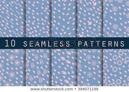 Foto d'archivio: Polka Dot Set Seamless Pattern Vector Illustration Rose Quartz And Serenity Colors