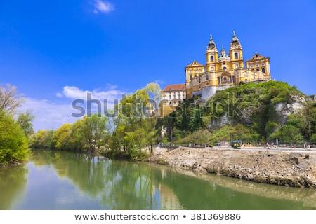 Folyó Duna alsó Ausztria festői templom Stock fotó © meinzahn