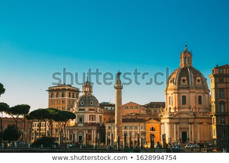Trajan's Column , UNESCO World Heritage Site, Rome, Italy  Stock photo © meinzahn
