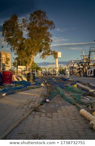 Portu rzeki Walencja połowów Hiszpania plaży Zdjęcia stock © lunamarina