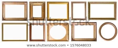 Fából készült téglalap keret szett 12 vektor Stock fotó © Voysla