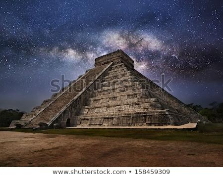 pirâmides · estilizado · antigo · selva · natureza · paisagem - foto stock © tracer