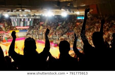 Foto stock: Baloncesto · ventilador · nina · sexy · ropa · interior