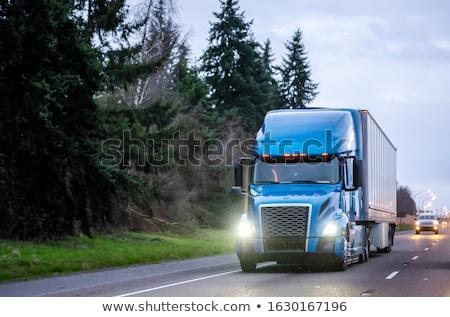 Dizel kamyon örnek beyaz tekerlek grafik Stok fotoğraf © bluering