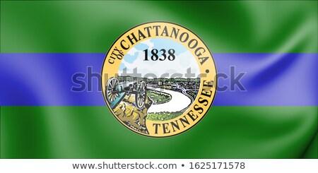 Tennessee TN USA Flag United States America 3d Illustration Stock photo © iqoncept