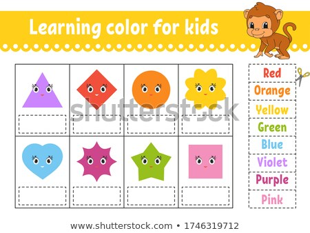 Coloring worksheet with monkeys Stock photo © bluering