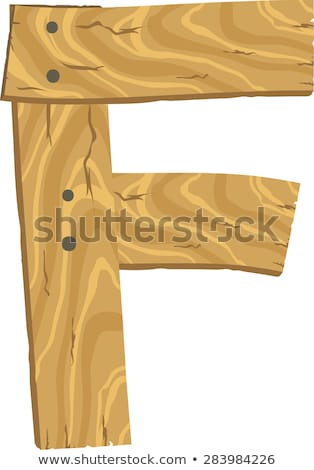 A letter F with a fence Stock photo © bluering