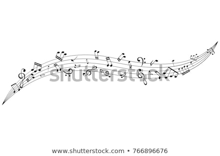 Music notes fly out  Stock photo © klss