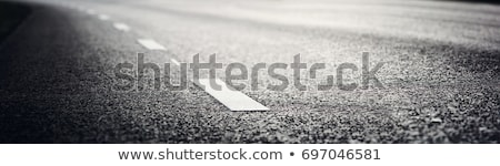 Asfalt yol boyalı beyaz grunge texture soyut Stok fotoğraf © stevanovicigor