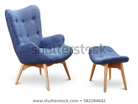 Stockfoto: Blue Office Chair Isolated On The White Background