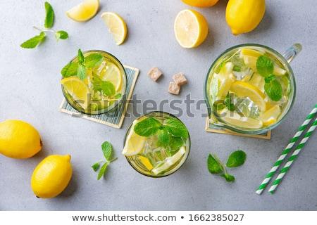 chá · gelado · jarro · isolado · branco · verão · líquido - foto stock © goir