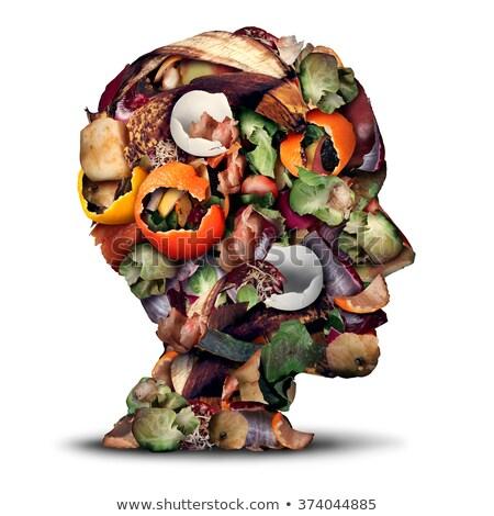 Rotten green vegetable on white background Stock photo © bluering