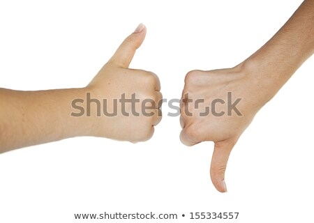Man omhoog handen sik witte Stockfoto © ozgur