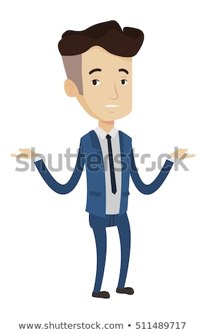 Bankrupt businessman with spread arms. Stock photo © RAStudio