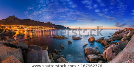 Foto stock: Panorama · doze · África · do · Sul · Cidade · do · Cabo · praia · mar