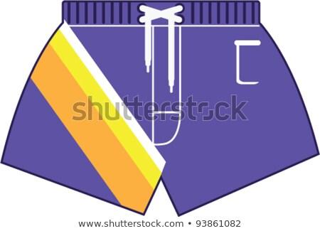 Man in purple swimming shorts  Stock photo © bluering
