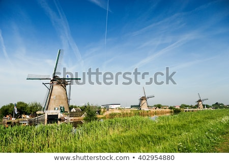 windmills in kinderdijk holland stock photo © compuinfoto