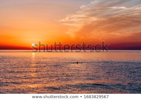 Mediterranean sunrise Stock photo © akarelias