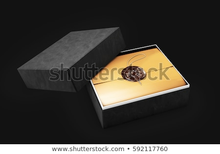 certificate template with luxury box diploma 3d illustration stock photo © tussik