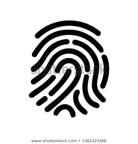 отпечатков пальцев идентификация икона прибыль на акцию 10 стороны Сток-фото © fresh_5265954