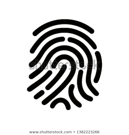fingerprint identification icon vector illustration stock photo © fresh_5265954