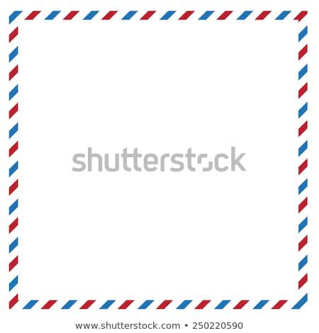 retro · poczta · lotnicza · kopercie · funky · pieczęć · odizolowany - zdjęcia stock © pcanzo