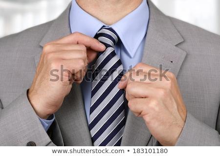 Zakenman sollicitatiegesprek man witte shirt kantoor Stockfoto © stevanovicigor