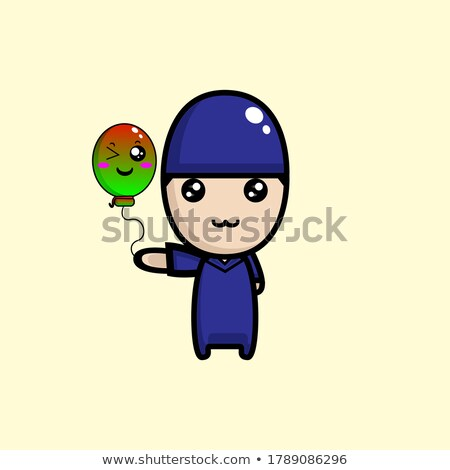 Muslim kids in purple outfit Stock photo © bluering