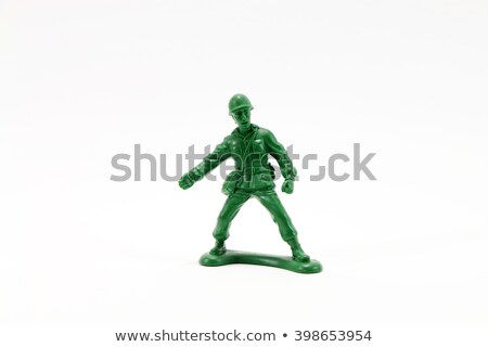 soldier toy in green color stock photo © bluering