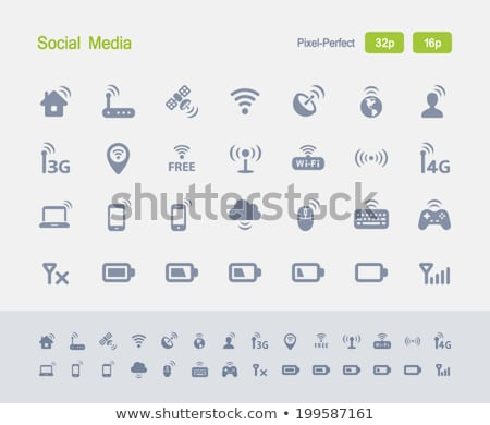 wireless technology   granite icons stock photo © micromaniac
