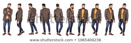 вид сзади бизнесмен белый Постоянный телефон моде Сток-фото © wavebreak_media