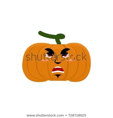 тыква зла сердиться Хэллоуин растительное агрессивный Сток-фото © popaukropa