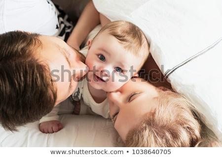 baba · yeni · aşağı · bebek - stok fotoğraf © JamiRae