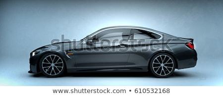 Sport autó oldal eső cseppek terv Stock fotó © ldambies