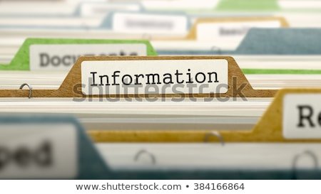 information   folder name in directory stock photo © tashatuvango