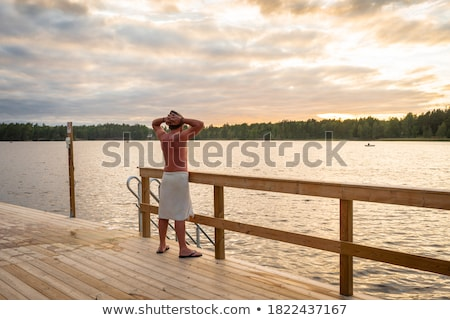 attractive young man in sauna Stock photo © dotshock