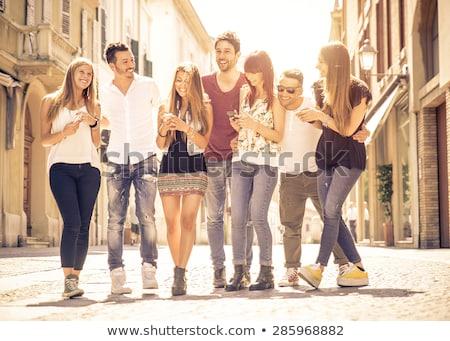 Icon of happy young people  Stock photo © Olena