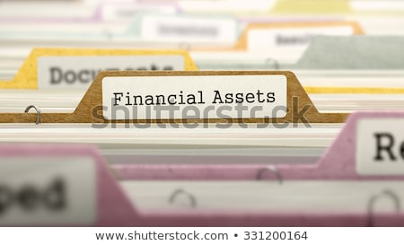 Folder in Catalog Marked as Financial Assets. Stock photo © tashatuvango