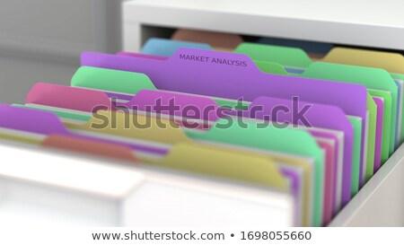 Folder Index with Marketing Research. 3D. Stock photo © tashatuvango