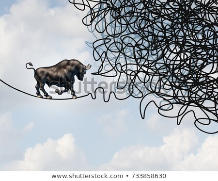 Bull Stock Market Confused Direction Stock photo © Lightsource