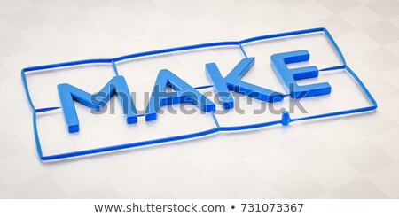 plastic injection molding word toy Stock photo © magann