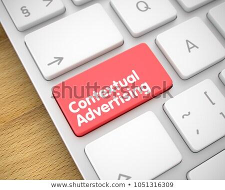 Reklamy szczupły aluminium klawiatury widoku Zdjęcia stock © tashatuvango