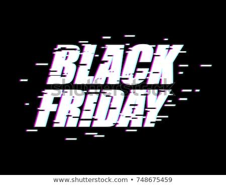 Black Friday Glitch effect emblem. website display online store. Stock photo © MaryValery