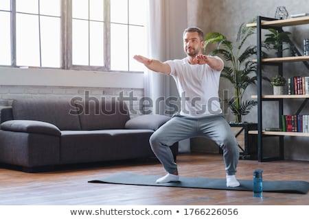 Uomo aerobico esercizio palestra divertimento spa Foto d'archivio © IS2