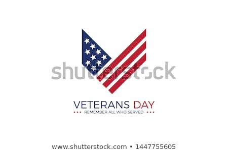 день икона эмблема кнопки американский флаг США Сток-фото © Oakozhan