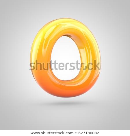 Orange twisted font uppercase letter O 3D Stock photo © djmilic
