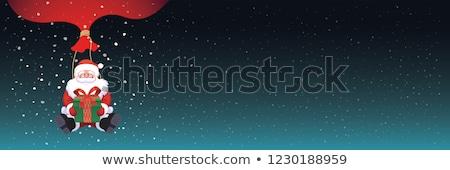 クリスマス · 明けましておめでとうございます · バナー · 暗い · 雪 · ギフトボックス - ストックフォト © Leo_Edition