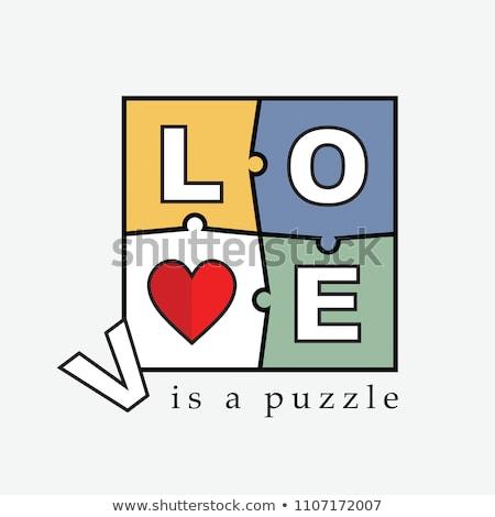 quebra-cabeça · coração · cartaz · amor · médico · quebrado - foto stock © voysla