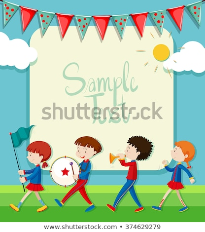 Children in band marching in park Stock photo © bluering