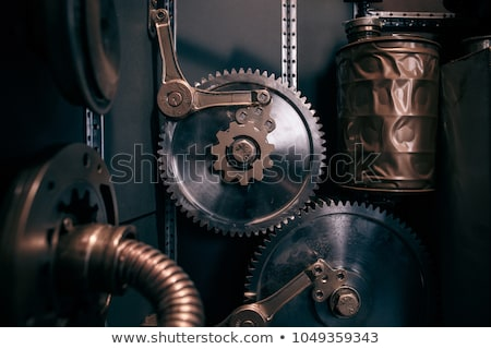 vintage steam punk style light bulb lamp stock photo © krisdog